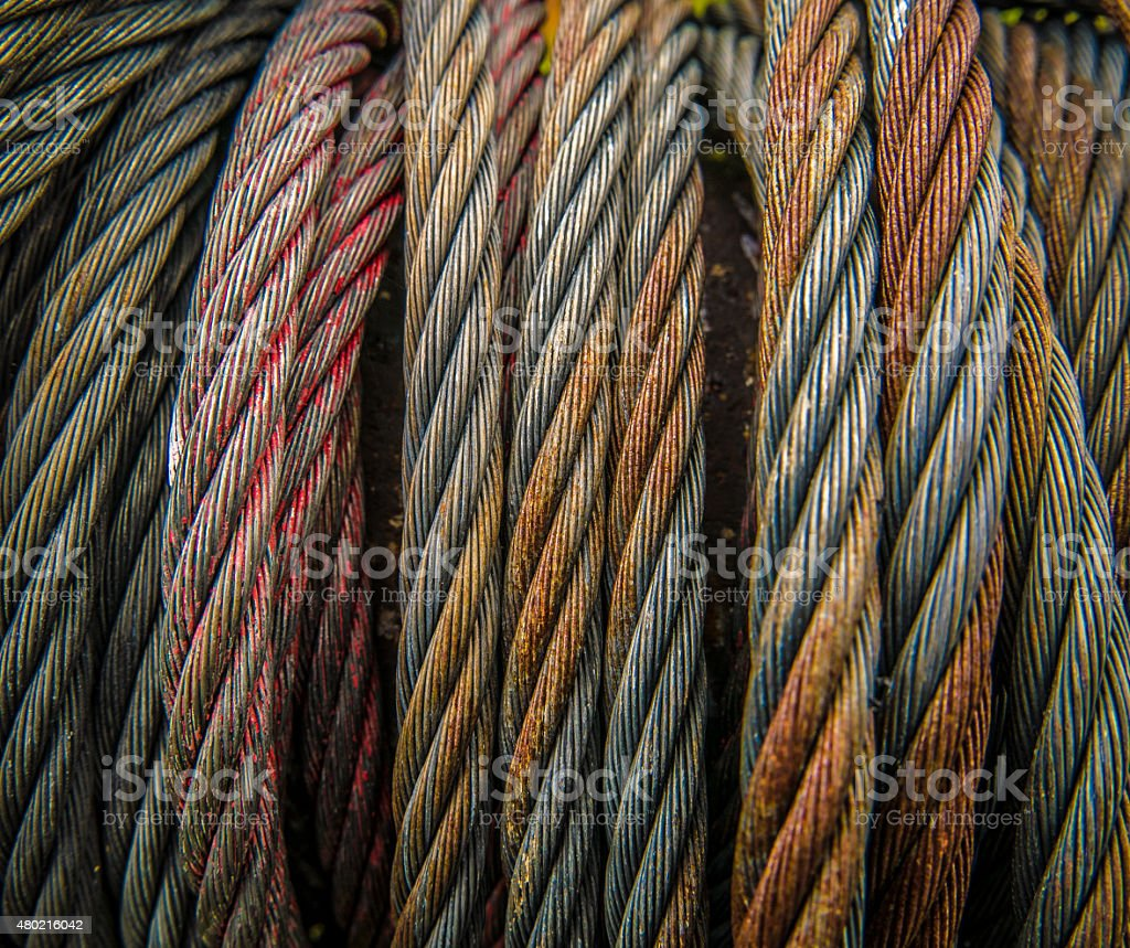 Heavy Duty Metal Cables stock photo