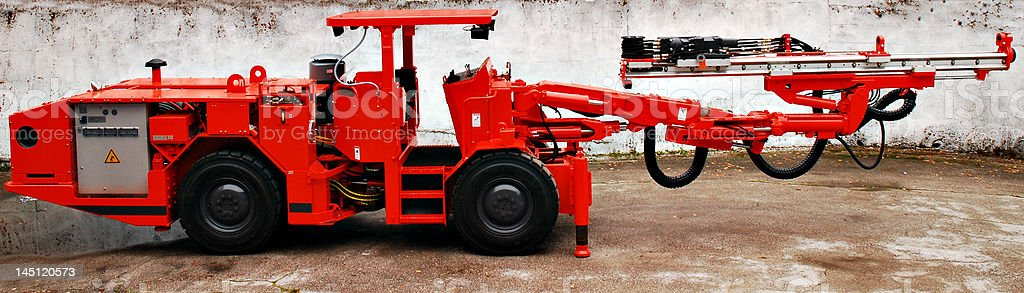 heavy duty mine drill royalty-free stock photo