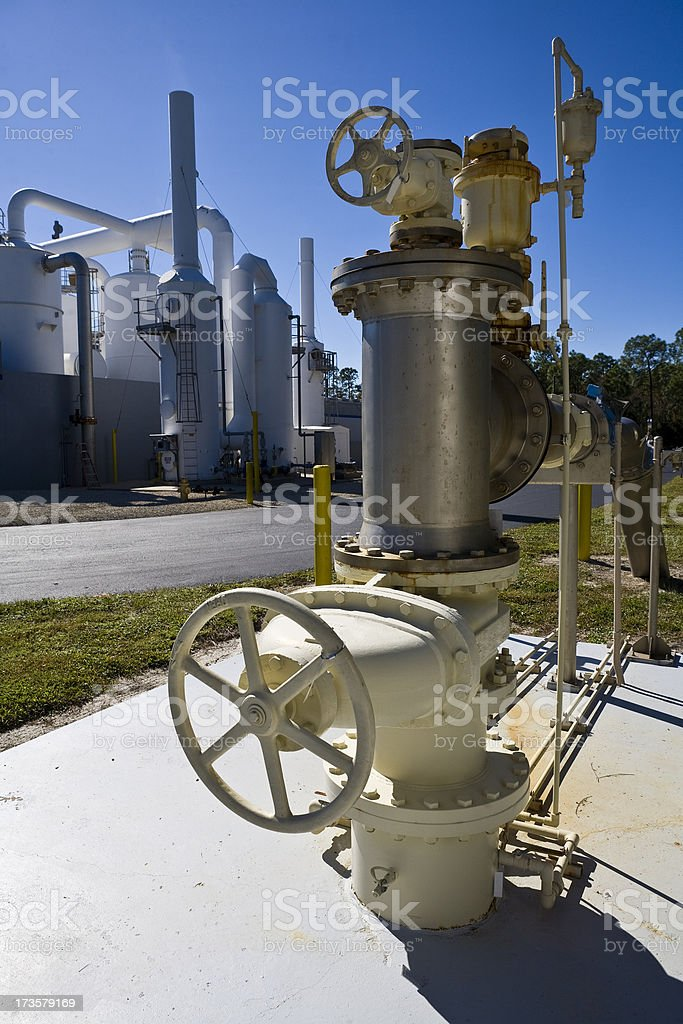 Heavy Duty Pump in Water Purification Plant royalty-free stock photo