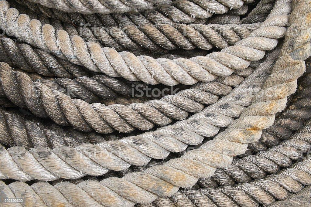 heavy duty rope stock photo