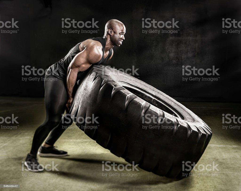 Heavy duty tire lift. stock photo