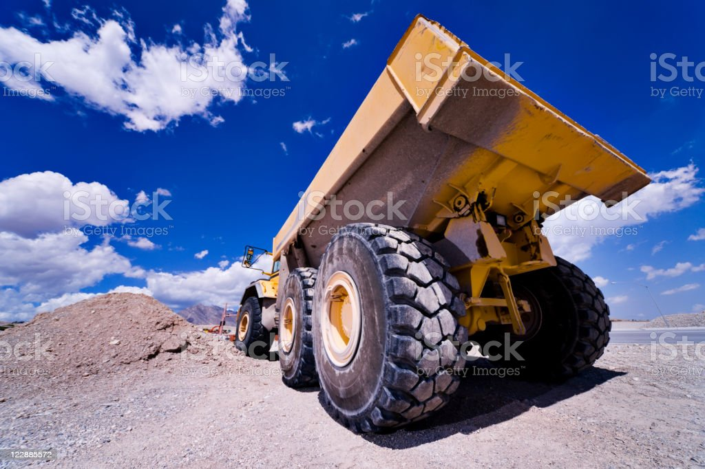 Heavy Equipment Dump Truck stock photo