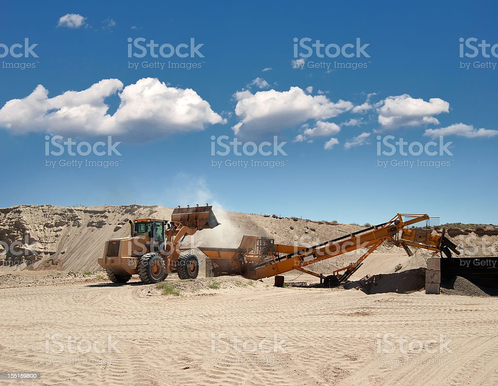 Heavy Equipment Front End Loader, Bulldozer royalty-free stock photo