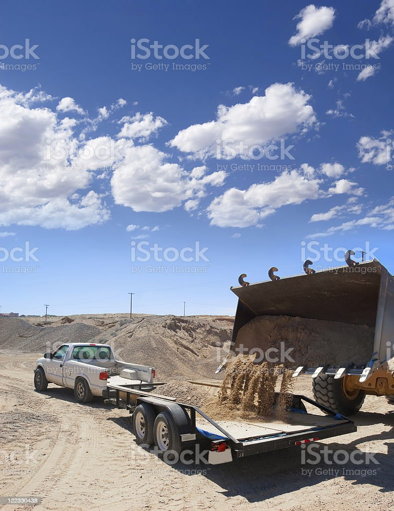Heavy Equipment Front-end Loader royalty-free stock photo