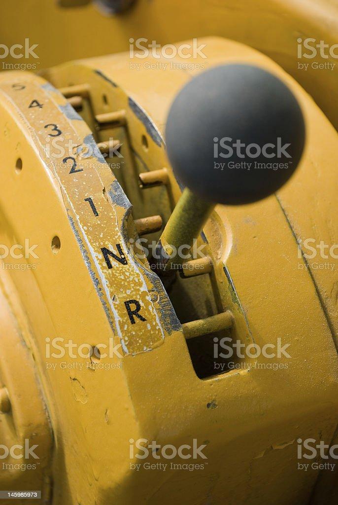 Heavy equipment gear shifter royalty-free stock photo