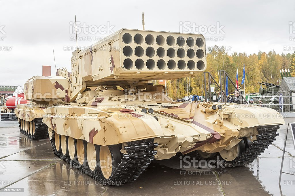 Heavy fire-throwing TOS-1A system. Russia stock photo