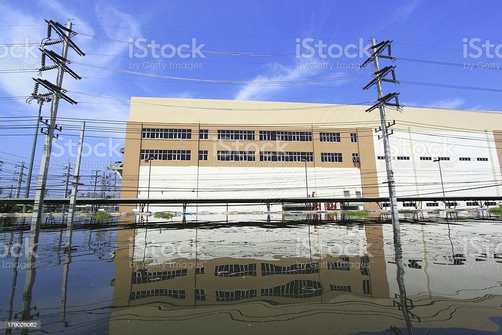 Heavy flooding royalty-free stock photo