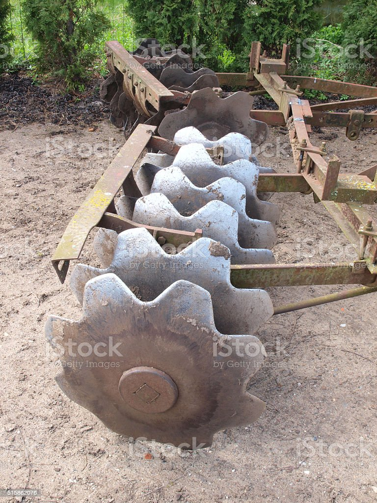 Heavy harrow 3 stock photo