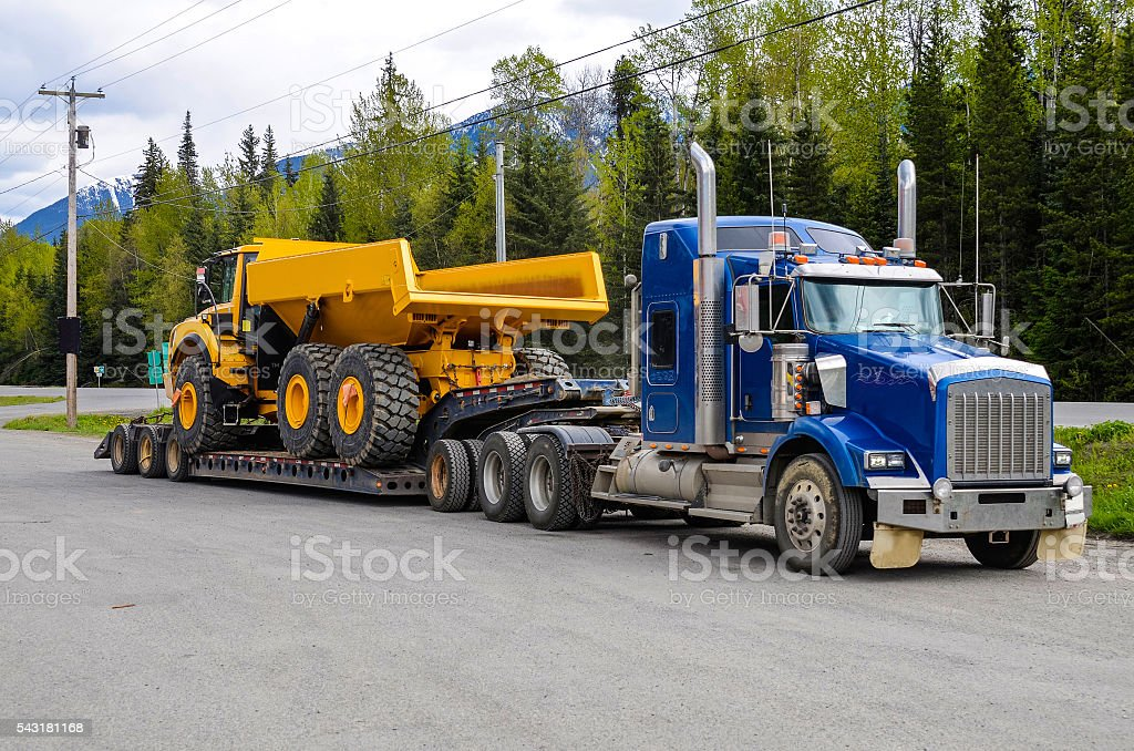 Heavy hauling stock photo