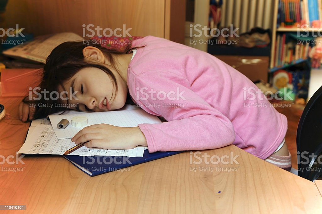 Heavy homework stock photo