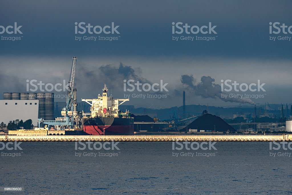 Heavy industry and pollution stock photo