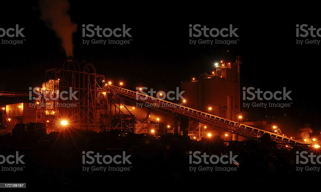 Heavy Industry at Night 4 royalty-free stock photo