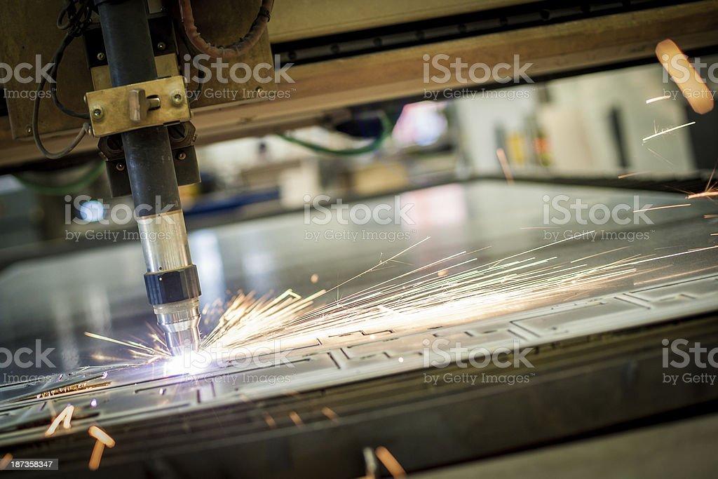 Heavy Industry cutting machine stock photo