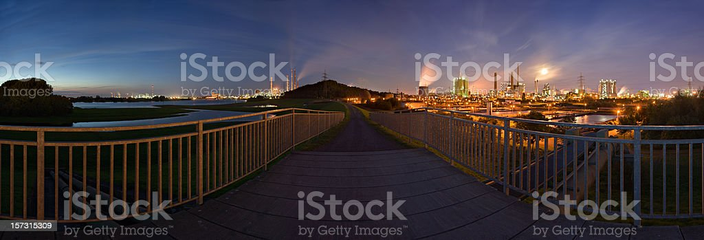 Heavy Industry Panorama (XXL) royalty-free stock photo