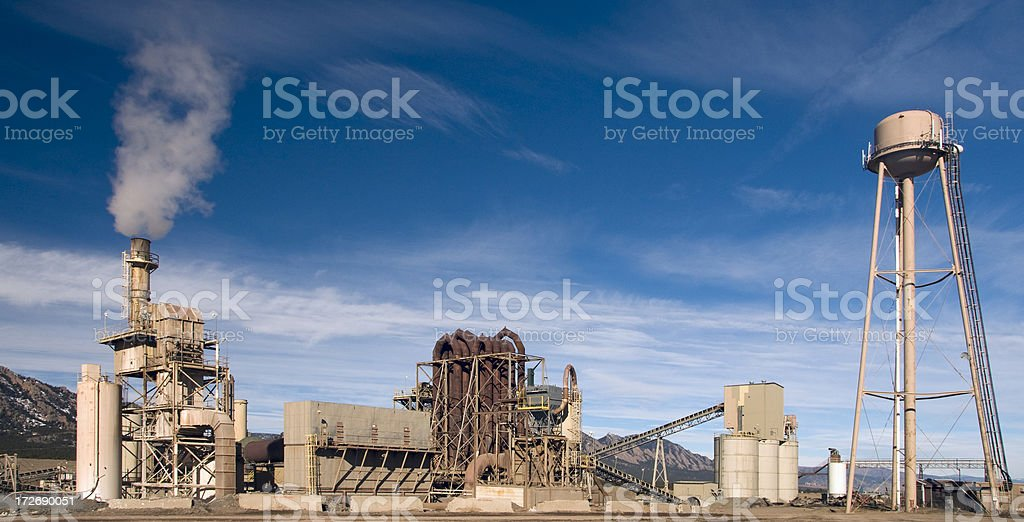 Heavy Industry with Dramatic Sky royalty-free stock photo