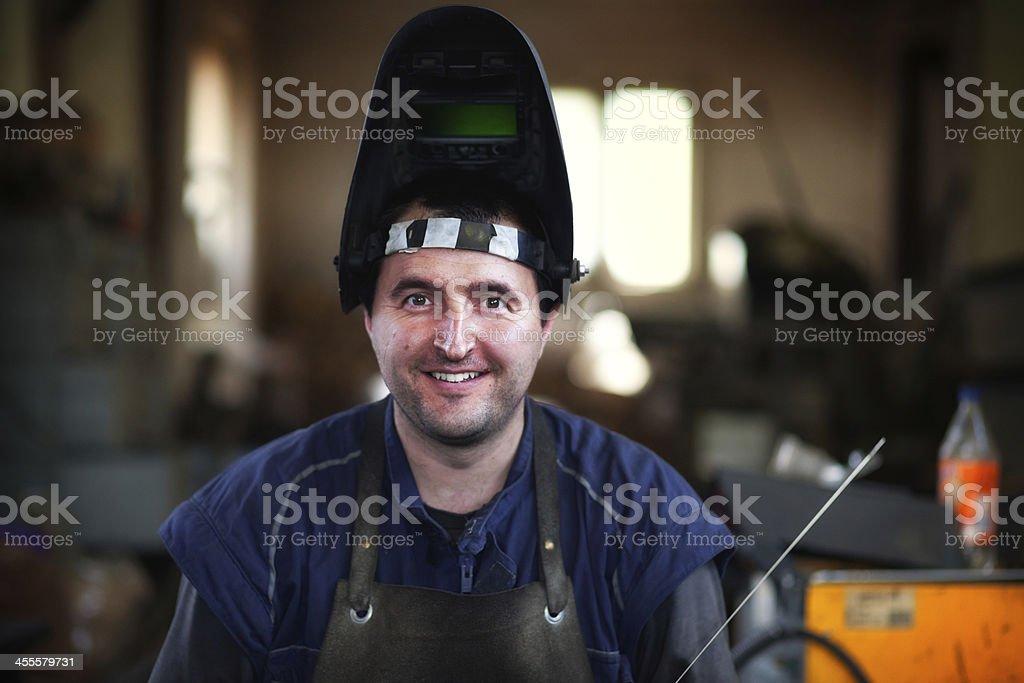 Heavy industry worker stock photo