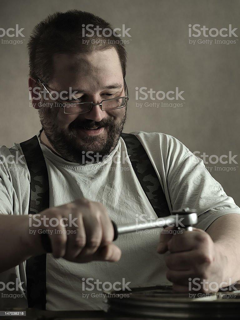 Heavy job royalty-free stock photo