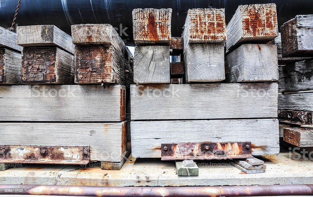 Heavy Load Cargo Support: Cribbing stock photo