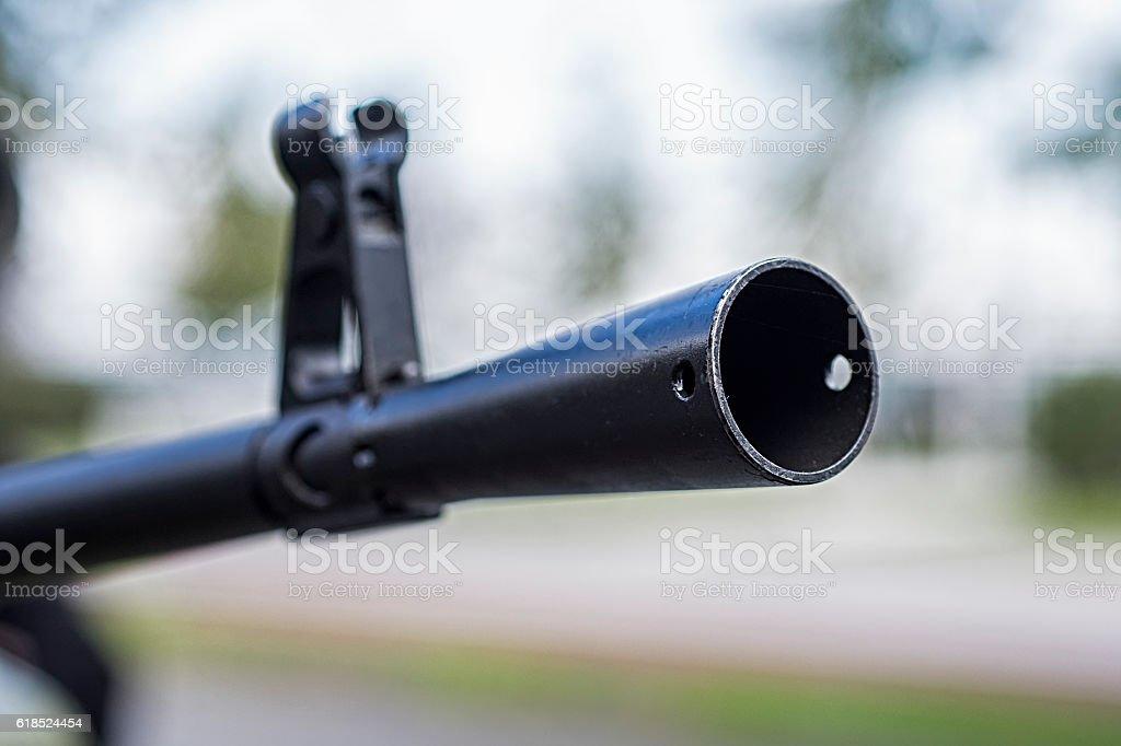 Heavy Machine Gun Front Sight stock photo