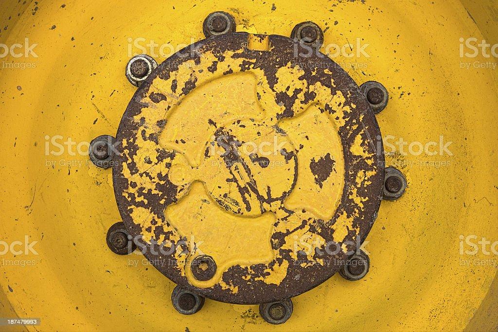 Heavy Machine Wheel Rim stock photo