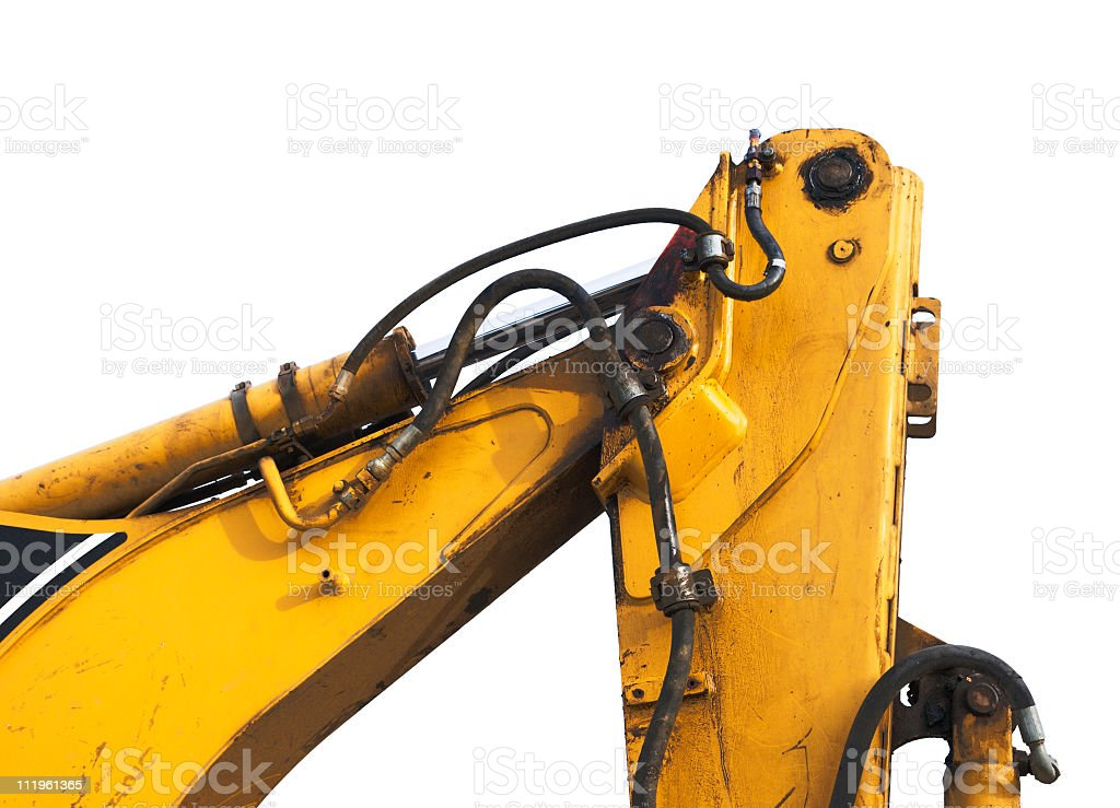 Heavy machinery part royalty-free stock photo