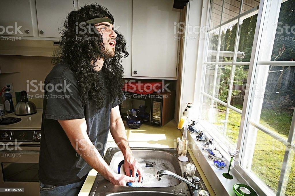 Heavy Metal Bachelor Life royalty-free stock photo