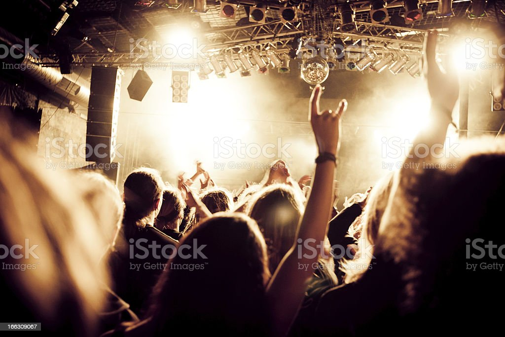 heavy metal concert royalty-free stock photo