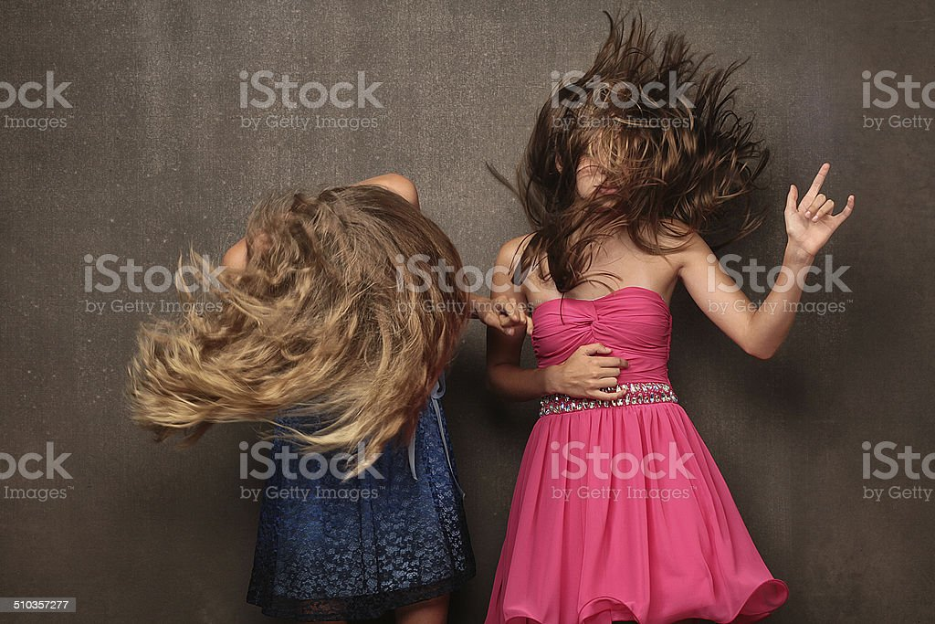 heavy metal hair stock photo