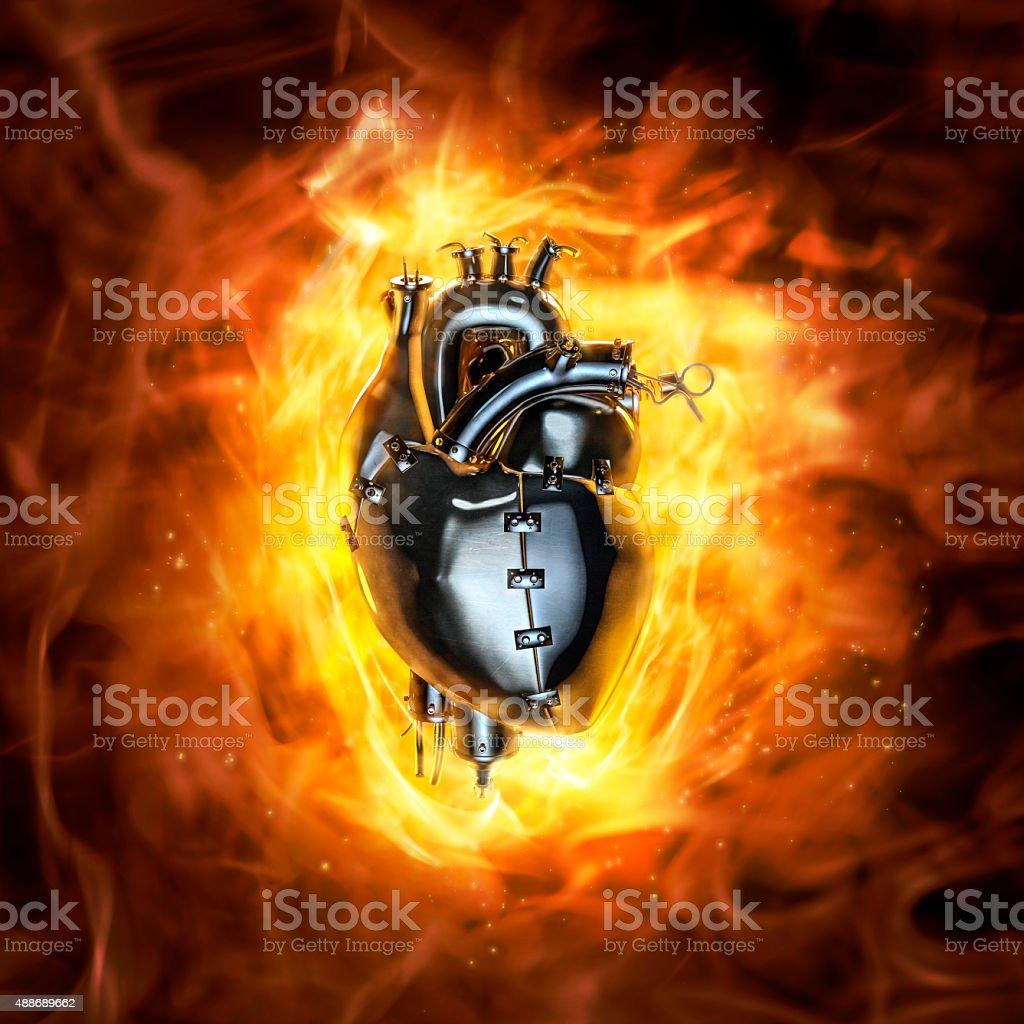 Heavy metal heart stock photo
