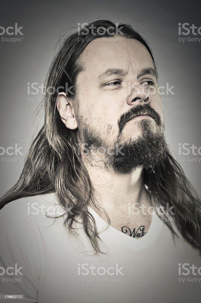 Heavy Metal Man Portrait royalty-free stock photo