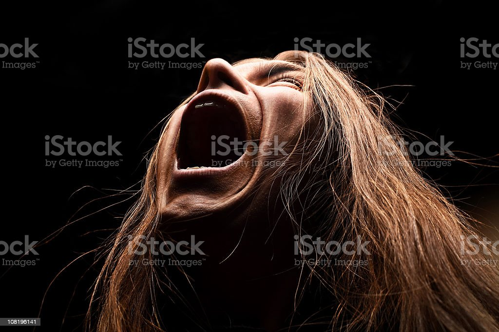 Heavy metal man screaming royalty-free stock photo