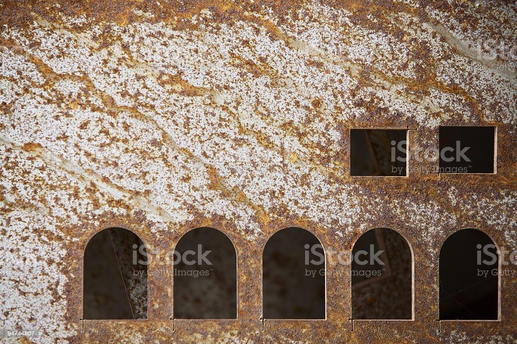 Heavy Metal [some windows] royalty-free stock photo