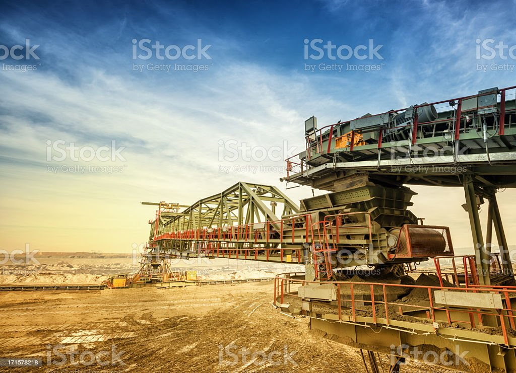 Heavy mining drill machine stock photo