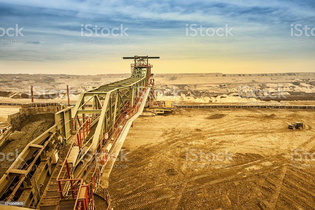 Heavy mining drill machine royalty-free stock photo