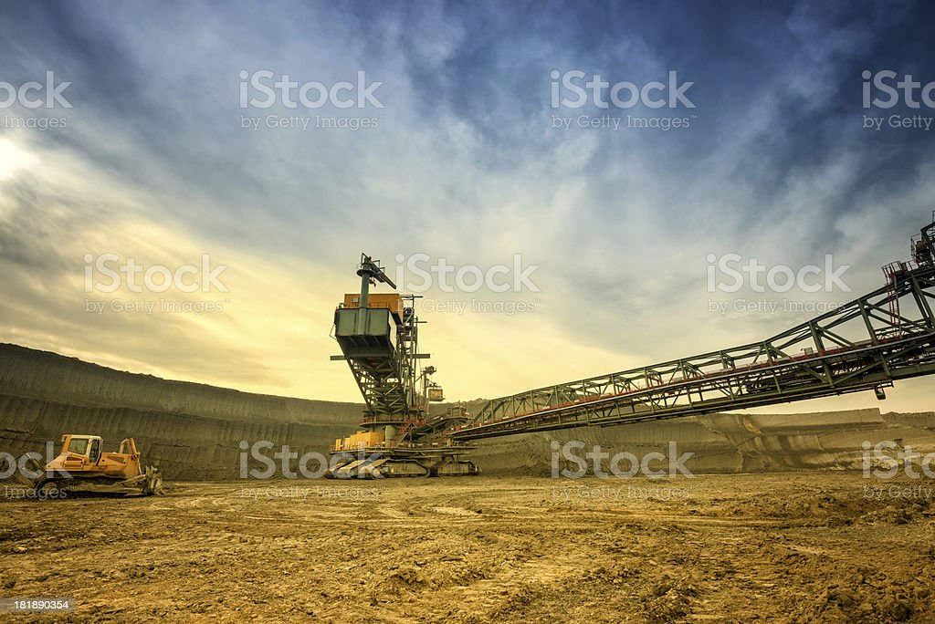 Heavy mining drill machine stock photo