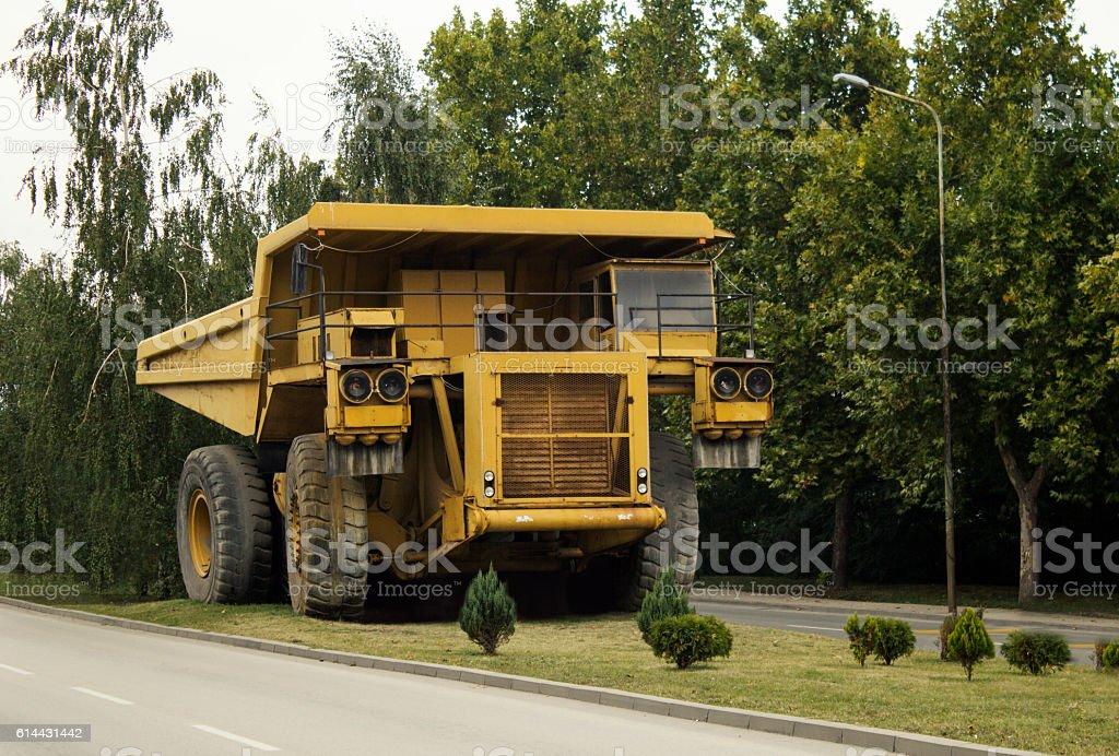 Heavy mining truck. stock photo