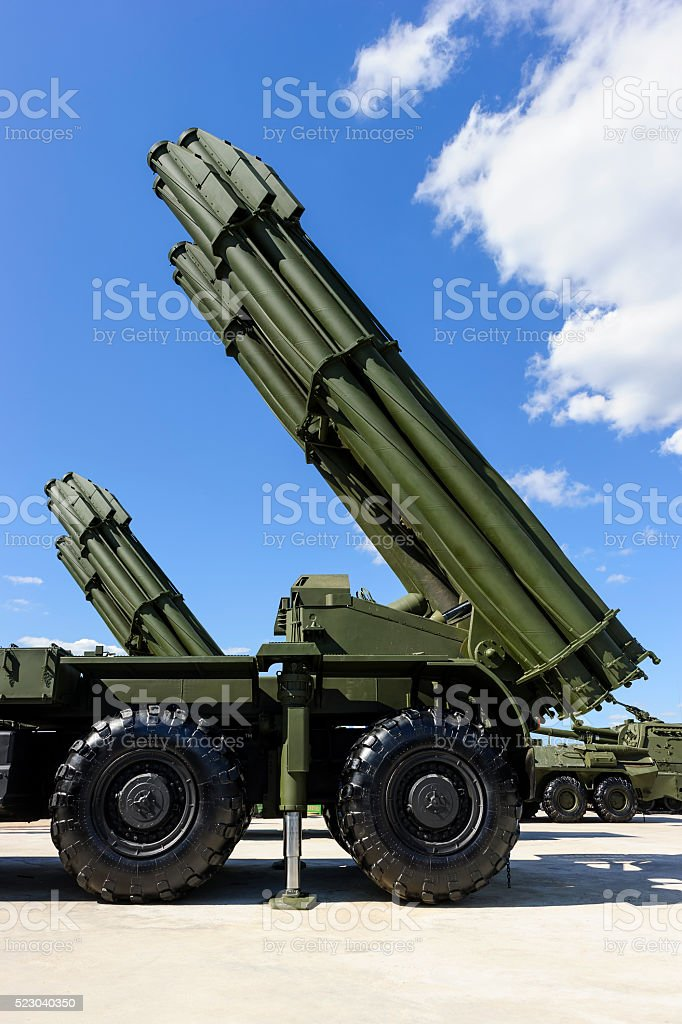 Heavy missile launcher stock photo