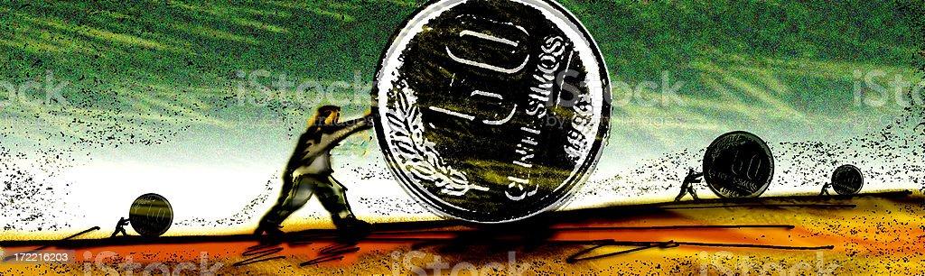 heavy money royalty-free stock photo