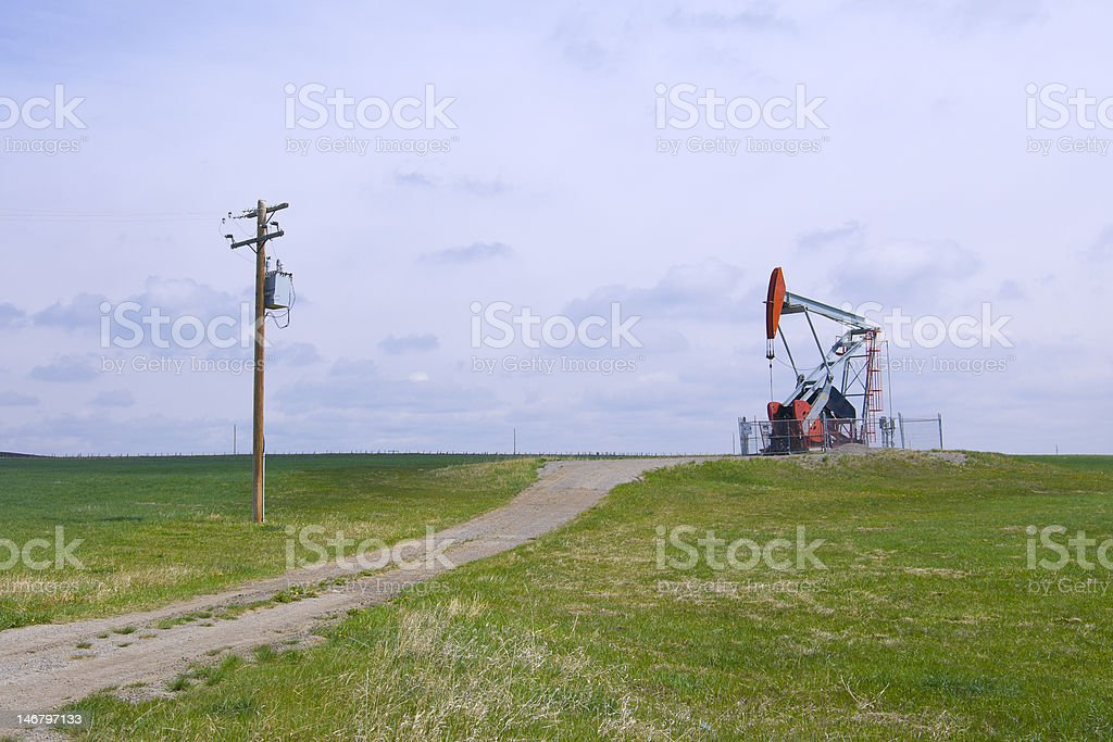 Heavy Oil Pump Jack royalty-free stock photo