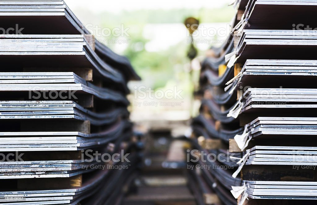 heavy plates made of steel stock photo