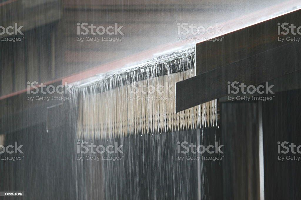 Heavy Rain on Roof royalty-free stock photo