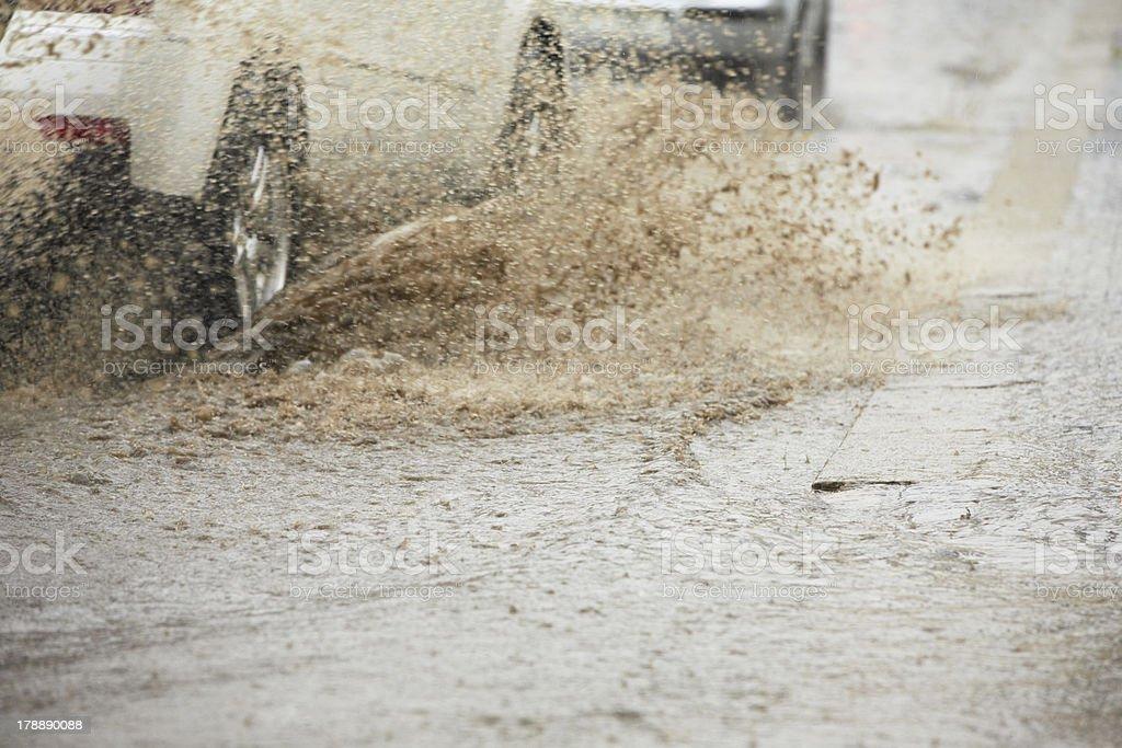 Heavy rain royalty-free stock photo