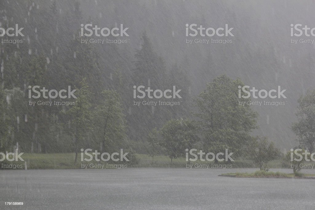 Heavy rain royalty-free stock photo