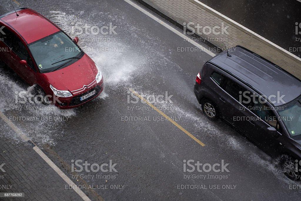 Heavy Rains in Europe stock photo