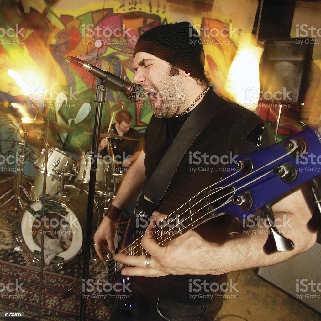 Heavy rock band royalty-free stock photo