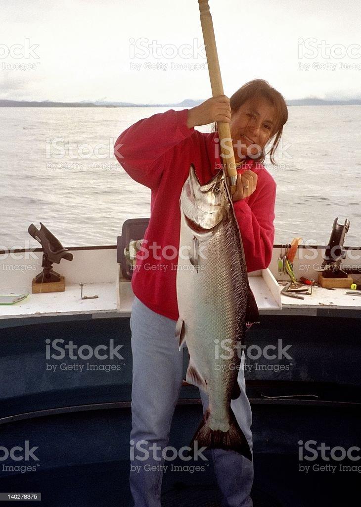 Heavy Salmon royalty-free stock photo