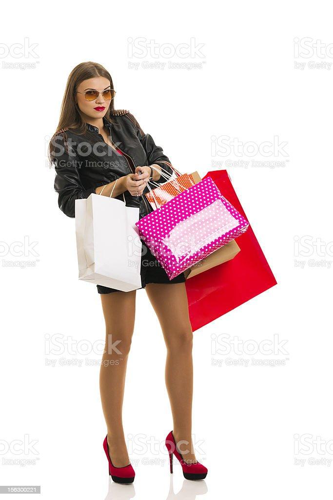 Heavy shopping royalty-free stock photo