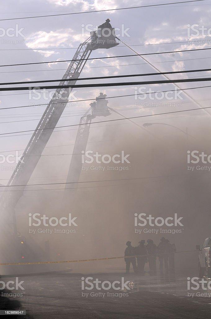 Heavy Smoke From Fire stock photo