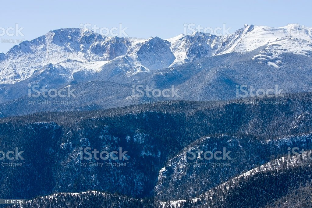 Heavy Snow on Pikes Peak royalty-free stock photo