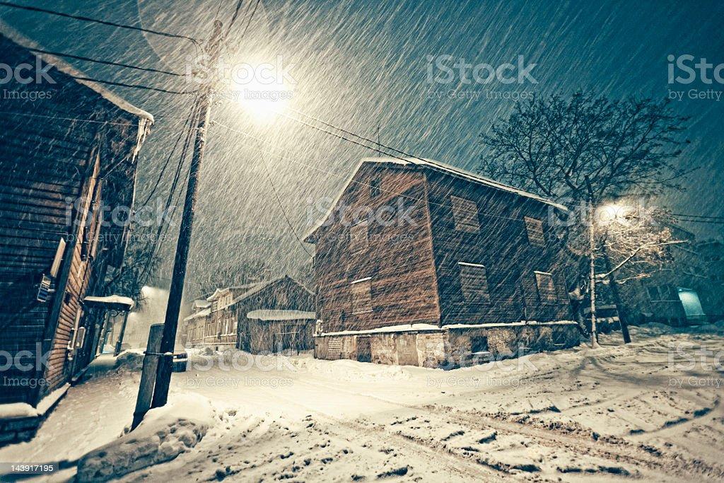 heavy snowfall royalty-free stock photo